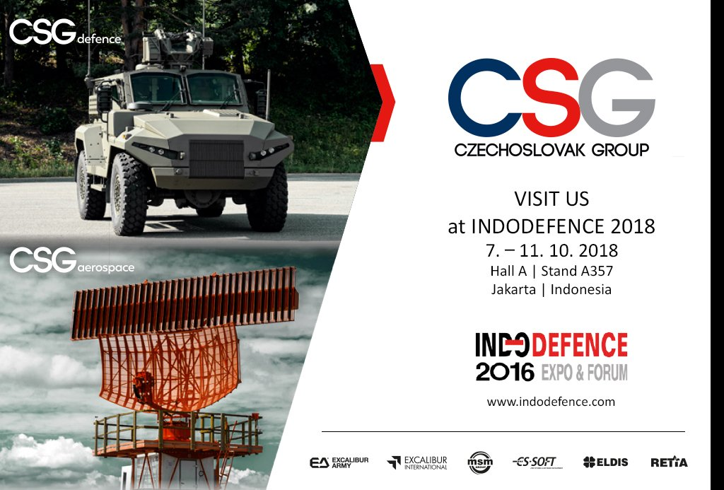 The companies of the CZECHOSLOVAK GROUP present themselves at the Indodefence 2018 trade exhibition