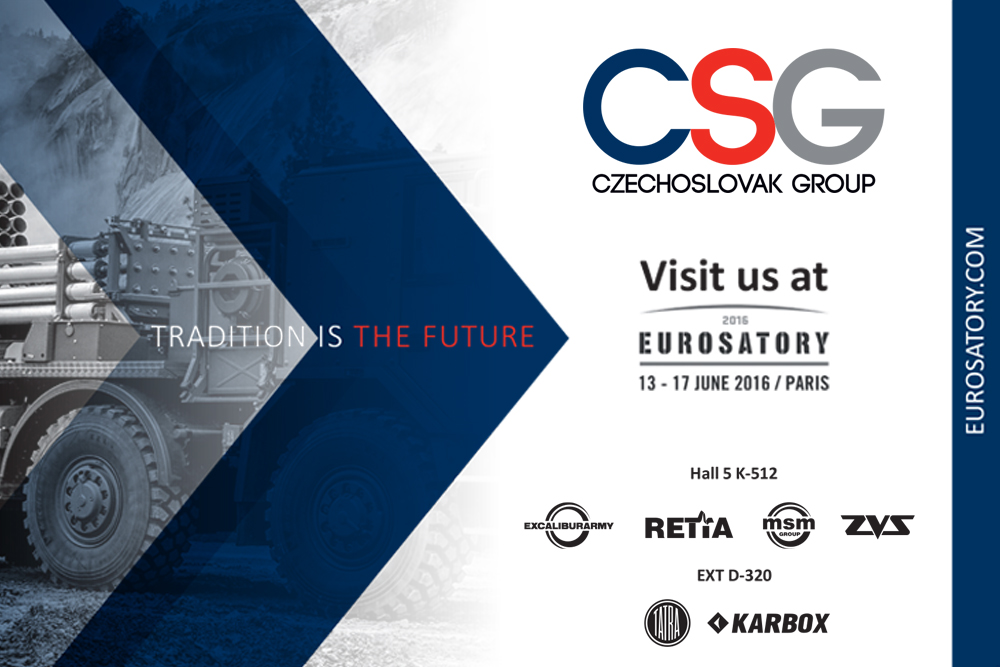 The Companies of the CZECHOSLOVAK GROUP and TATRA TRUCKS invitation to EUROSATORY 2016